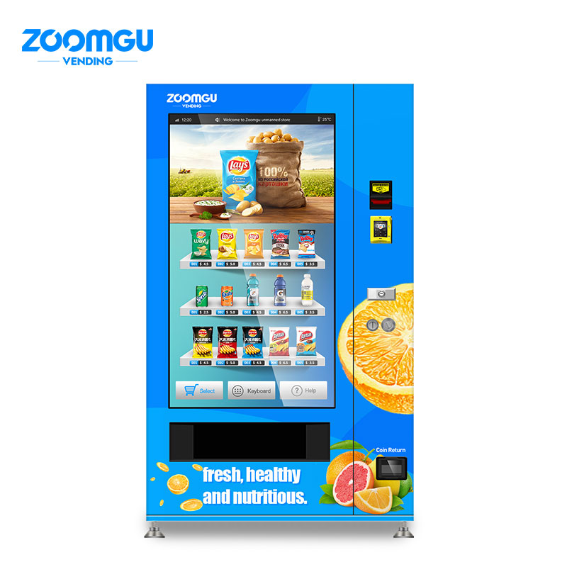 Zoomgu Full Cover Screen Healthy Food Vachine Machine
