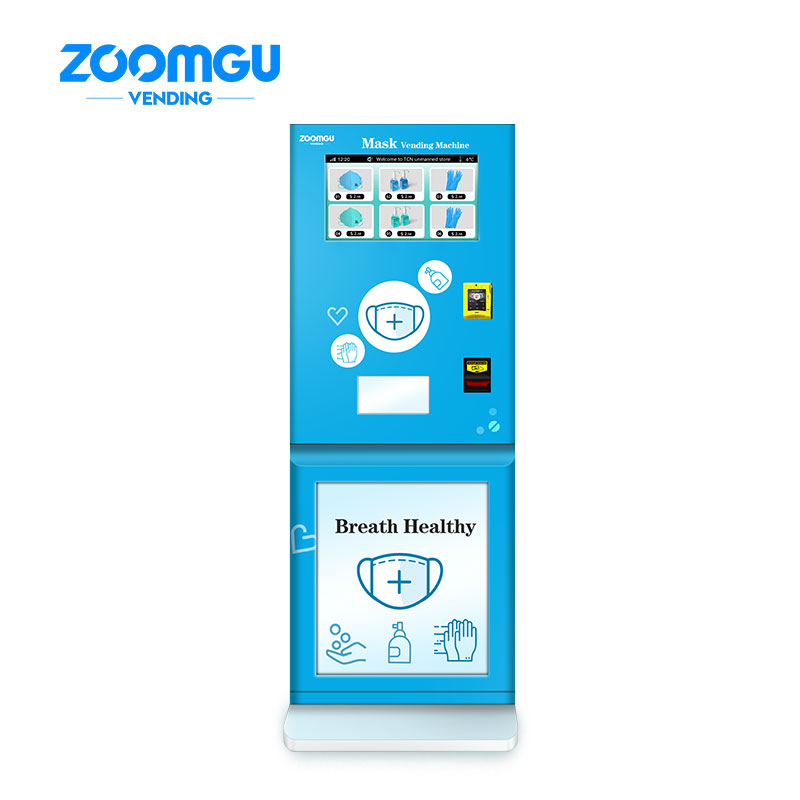 Wall Mounted Hand Sanitizer Mask Vending Machine